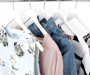 clothes, pink, and rail image