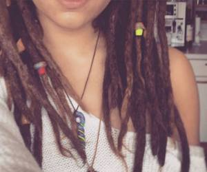 brunette, dreads, and girl image