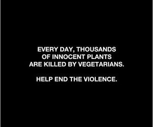 funny, vegetarian, and violence image