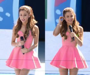 ariana grande, pink, and dress image