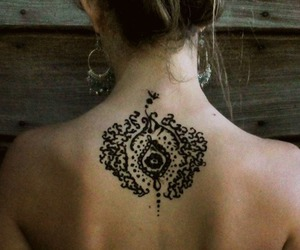 back, henna, and tattoo image