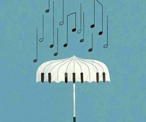 music, rain, and piano image