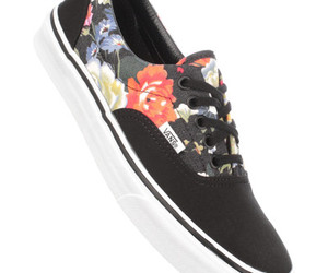 flower print, shoes, and vans image