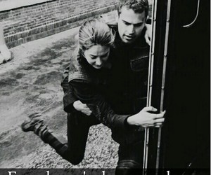 black and white, divergent, and tobias eaton image