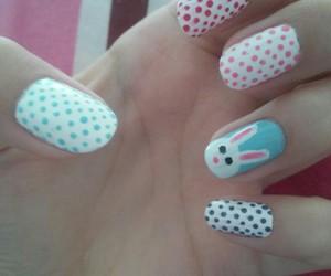 blue, girl, and nail image