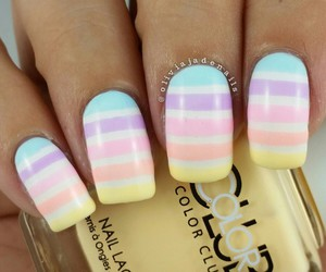 fashion, stripe nails, and girl image