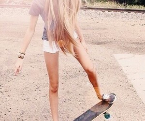 beautiful, girl, and skate image
