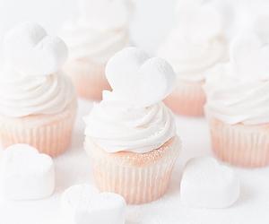cupcake, heart, and cake image