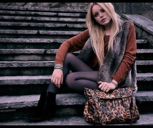 bag, blonde, and boots image