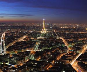 paris, night, and light image