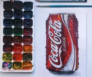 art, coca cola, and draw image