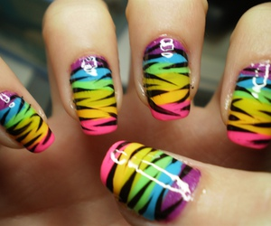 nails, nail art, and colorful image