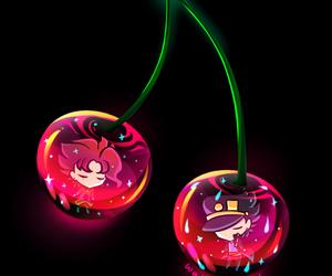 cherry, jotaro kujo, and kakyoin noriaki image