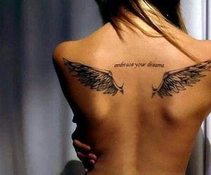 angel, girl, and tatto image