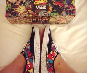 Marvel, shoes, and spiderman image