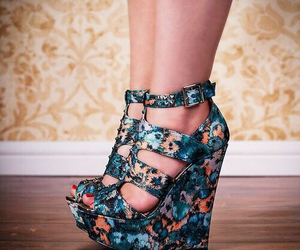 floral, shoes, and tall image