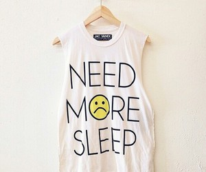 sleep, shirt, and clothes image