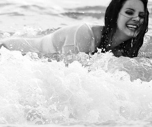 lana del rey, beach, and sea image