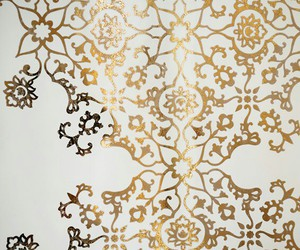 design, gold, and pattern image