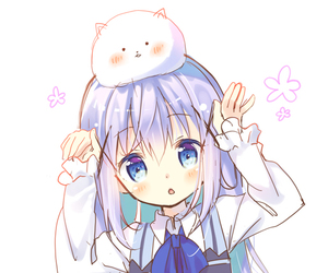 anime girl, kawaii, and kafuu chino image