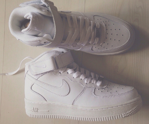air, white nike, and love image