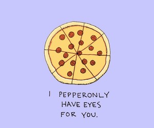 pizza, pun, and sweet image