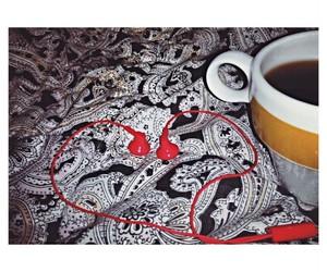 heart, music, and coffee image
