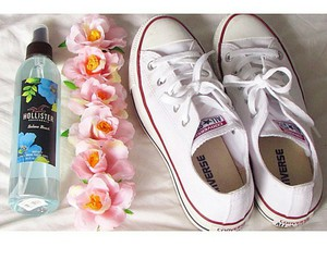 converse, hollister, and white image