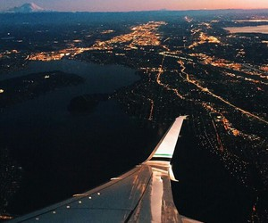 airplane, night, and height image