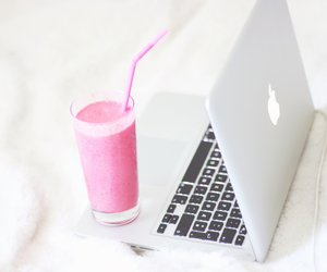 apple, drink, and pink image