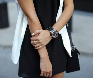 beauty, girly, and black image