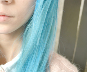 alternative, blue hair, and girl image