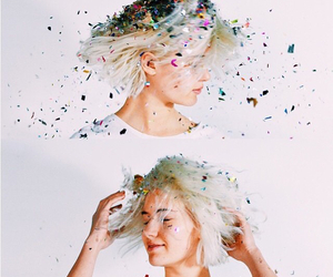 colors, hair, and confetti image