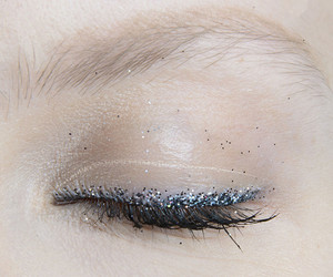 eye, glitter, and makeup image