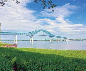 bridge, grass, and ireland image
