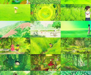 green, anime, and ghibli image
