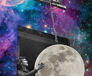 galaxia, lua, and psicodelico image