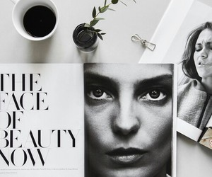 coffee, magazine, and beauty image