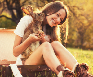 easter, rabbit, and cute image