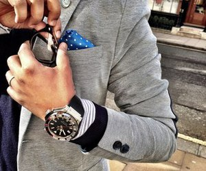 style, man, and watch image