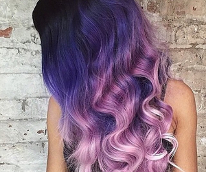 hair, hairstyle, and violet hair image