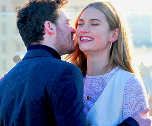 richard madden, lily james, and love image