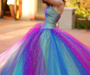 beautiful, promdress, and colours image