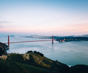 san francisco, bridge, and nature image
