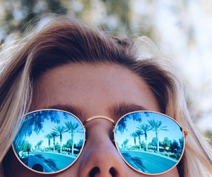 summer, girl, and sunglasses image