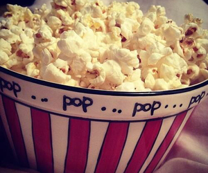 food, popcorn, and pop image