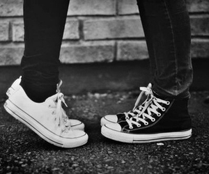 love, converse, and couple image