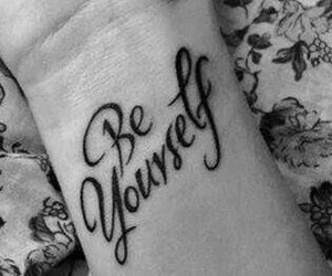 tattoo, be yourself, and yourself image