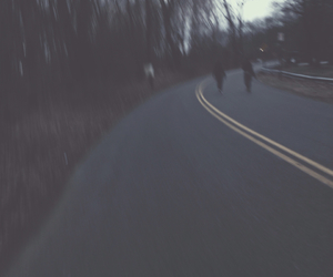 artsy, blurry, and trees image