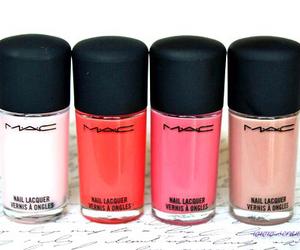 mac, pink, and nails image